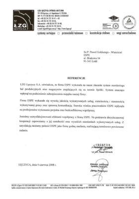 Referencje ŁZG