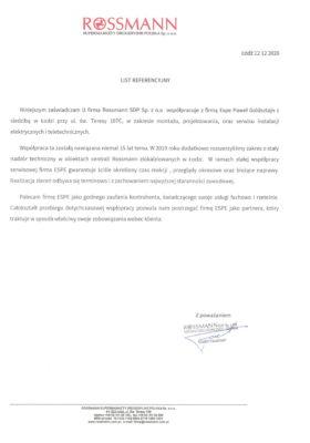 Referencje Rossmann STC